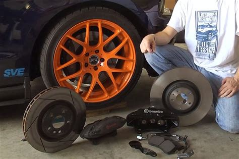 ford racing    mustang brake install