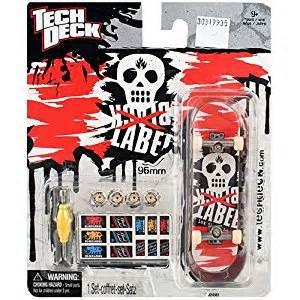 tech deck 96mm fingerboard black label skull amazon co