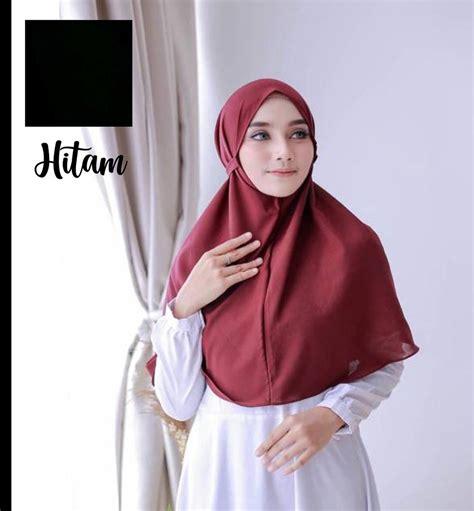 jual daily hijab bergo maryam instan  lapak husna store trisgar
