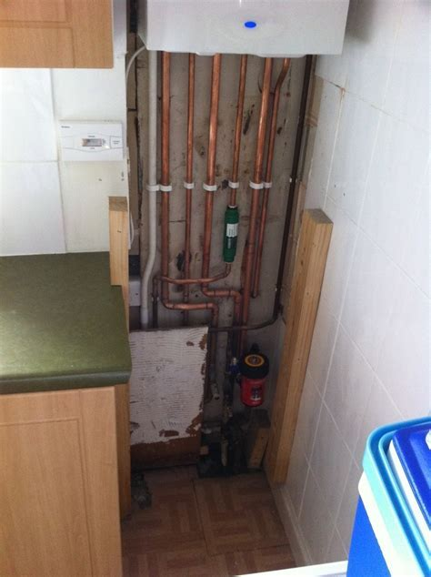 Box in and tidy up boiler pipe work   Carpentry & Joinery