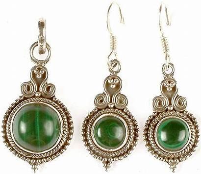 Malachite Earrings Pendant Jewelry