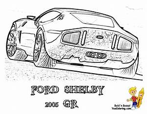 fierce car coloring ford cars free mustangs t bird With 1966 ford shelby co
