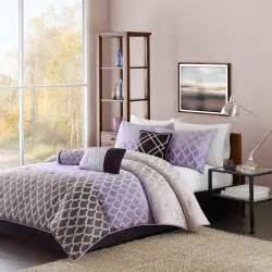 madison classics mendocino cal king 7 pieces comforter set in purple silver color home bed