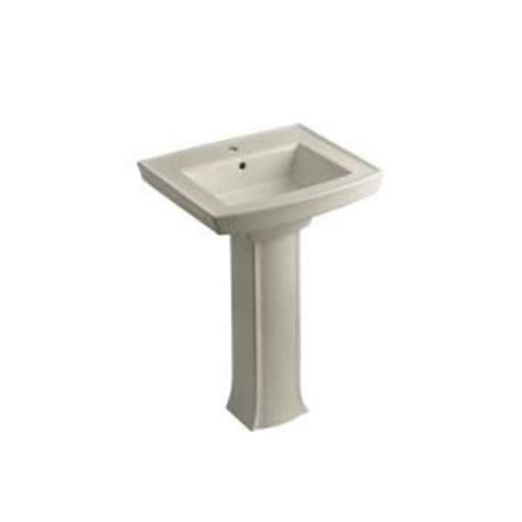 kohler archer pedestal combo bathroom sink in sandbar k
