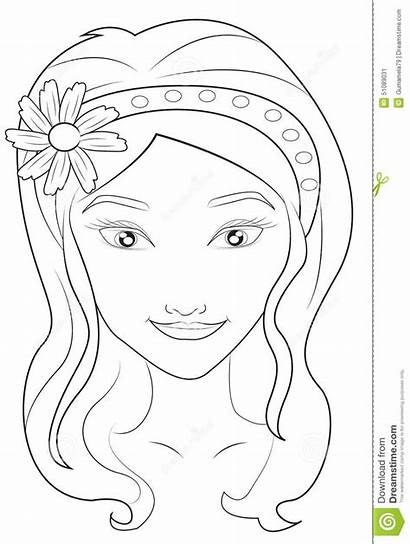Coloring Face Faces Pages Illustration Printable Realistic