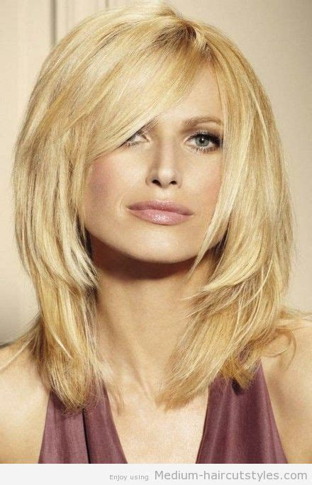 mid length haircuts for medium hairstyles with bangs for faces hairstyles 3992