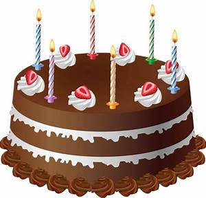 Birthday Cake With 6 Candles Clipart (13+)