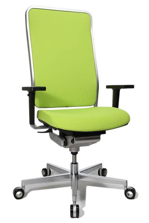 fauteuil de bureau vert siege ergonomique design avec cadre chromé wagner w1