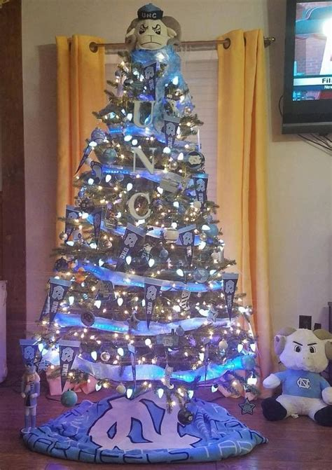tarheel christmas tree tarheels tar heels football