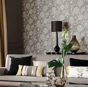Schöne Tapeten Ideen : 85 wohnzimmer tapeten ideen florale und barock muster ~ Markanthonyermac.com Haus und Dekorationen