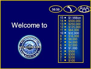 who wants to be a millionaire powerpoint template the With who want to be a millionaire template powerpoint with sound