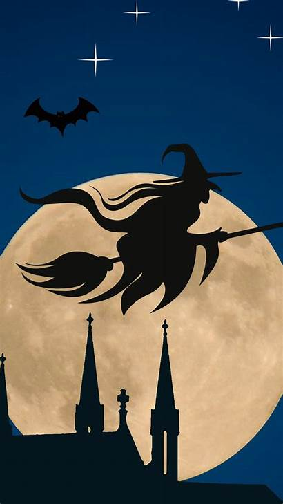 Witch Halloween Moon Flying Iphone Broom Witches