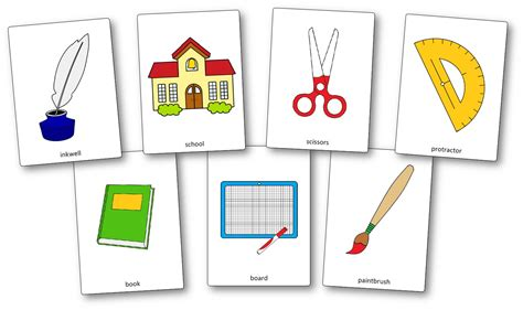 Classroom Objects Flashcards  Free Printable Flashcards  Speak And Play English
