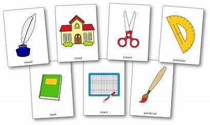 Flashcards Classroom Objects Printable Flash Vocabulary English