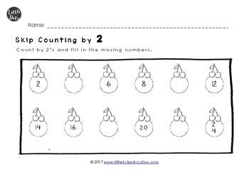 skip counting by 2 5 and 10 worksheets for kindergarten