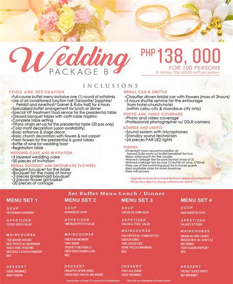 wedding  reception packages  cebu city
