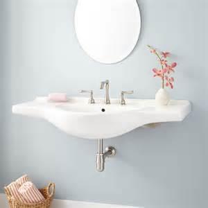 wall mount kitchen sinks amandine porcelain wall mount sink bathroom sinks bathroom 6944
