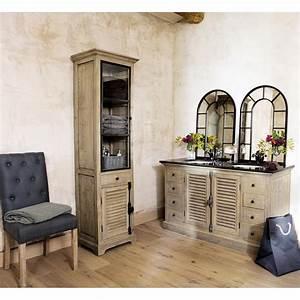 Maison du monde meuble salle de bain collection et for Meuble de rangement salle de bain maison du monde
