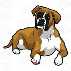 Boxer Dog Cartoon Clip Art
