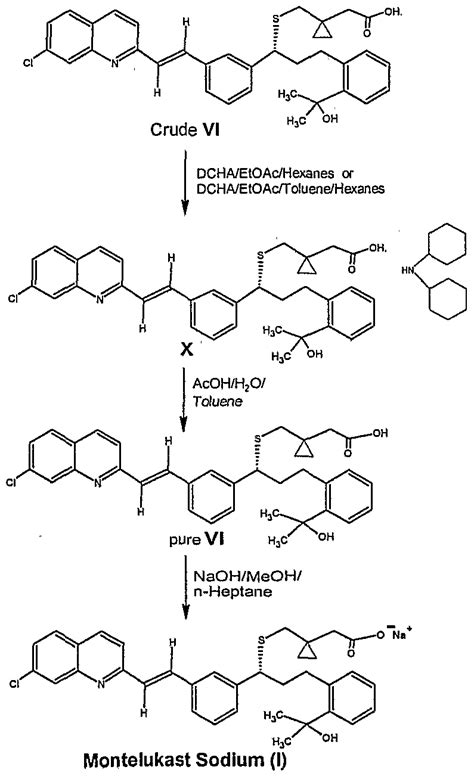 patent ep1631550a1 an improved method for the preparation of montelukast acid and sodium salt