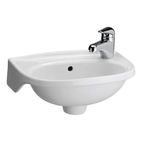 home depot wall mount sink tina wall mounted bathroom sink in white 4 551wh the