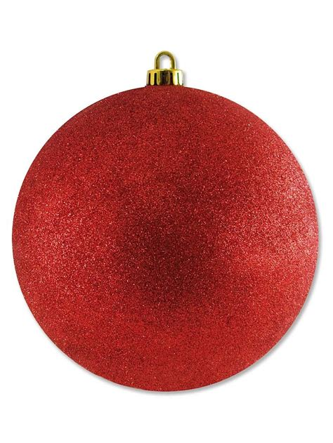 large display glittered red bauble decoration 20cm large decor inflatables the christmas