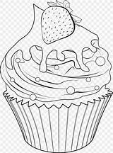 Coloring Drawing Cupcakes Cupcake Delicious Outline Baking Baked Goods Bakery Cup Bake sketch template