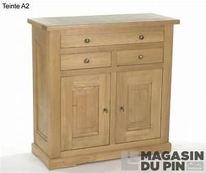 meuble d39entree chene massif loire le magasin du pin With porte d entrée alu avec meuble salle de bain 100 cm blanc