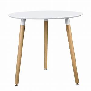 Tisch Rund Weiß : esstisch rund wei h 75cmx 80cm holz tisch retro design k chentisch ebay ~ Markanthonyermac.com Haus und Dekorationen