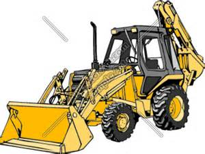 Construction Backhoe Clip Art
