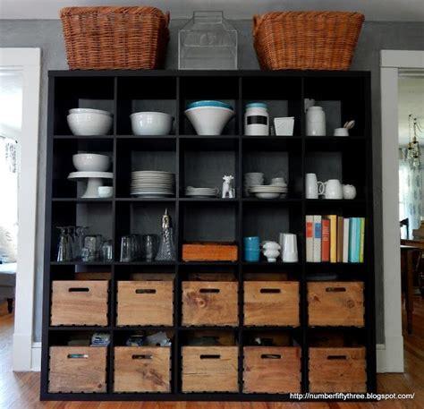 ikea kallax  kitchen storage  glimpse