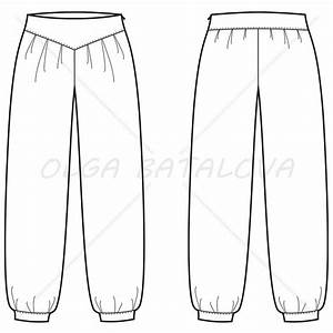 women39s harem pants fashion flat template illustrator stuff With harem pants template