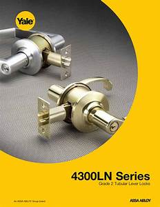 Yale 4300ln Series Grade 2 Tubular Lever Locks Web 42122