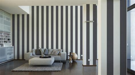 Ausgezeichnet Wohnzimmer Gestalten Tapeten Tapeten Gestreift Hause Deko Ideen