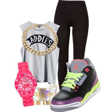 Girly x air jordans created by rayray669 on Polyvore   Swaag !   Pinterest   Jordans Night and ...