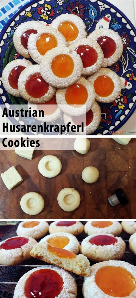 Homemade austrian linzer cookies are two shortbread cookies, accompanied by a very common jelly at christmas. Husarenkrapferl, an Austrian Cookie | Recipe | Dessert ...