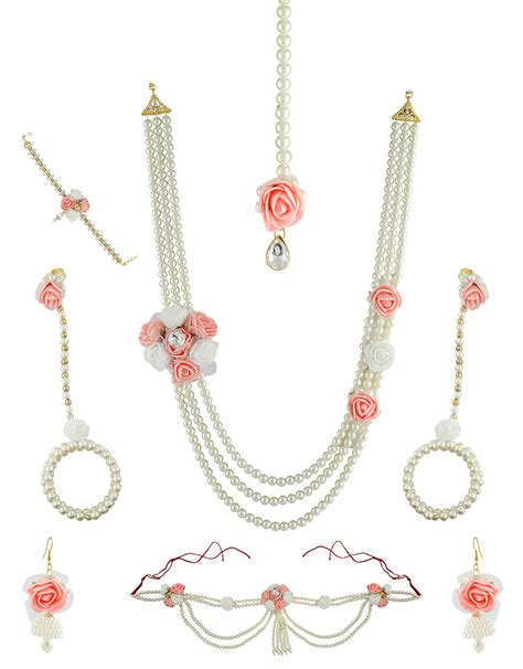 buy pink colour  classy designer baby shower jewellery