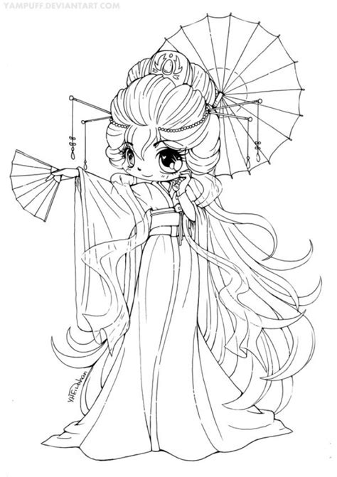 simple chibi coloring pages  print  preschoolers vjor