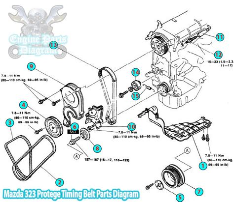 Mazda Protege Timing Belt Parts Diagram Engine