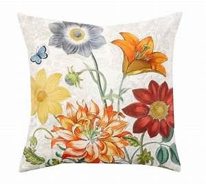 garden bouquet botanical print indoor outdoor pillow With botanical print pillows