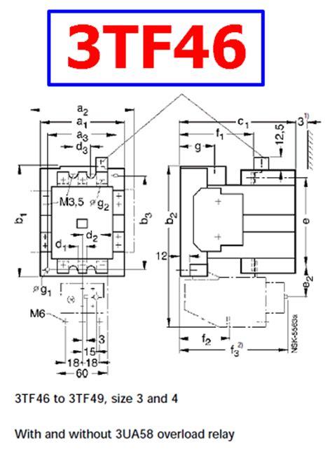 3tf46 datasheet ac magnetic contactor siemens