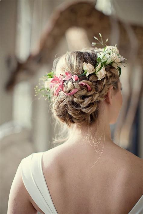 Flower Updo Hairstyles by 23 Glamorous Bridal Hairstyles With Flowers Pretty Designs