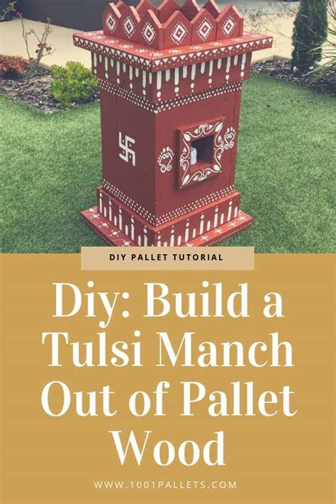 diy build  tulsi manch   pallet wood  pallets