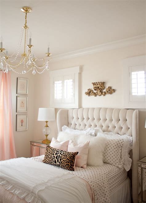 Pink And Gold Girl's Bedroom Makeover  Bedroom  Girls