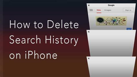 how to delete history from iphone how to delete search history on iphone nektony
