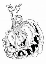 Scary Monster Coloring Pages Really Printable Creepy Getcolorings sketch template