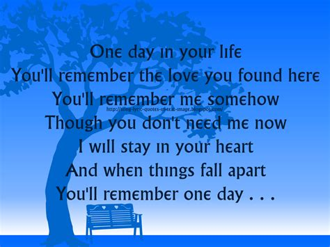 Song Lyric Quotes About Life. Quotesgram
