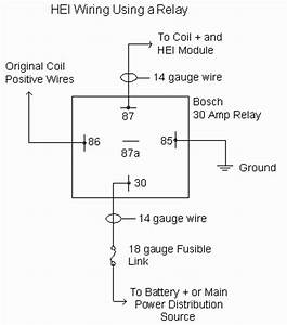 5 Wire Relay Wiring Diagram For Hei Ignition