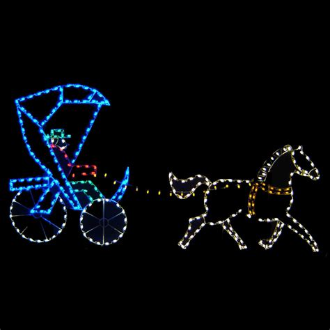 christmas led light show led horse buggy light display 14 39 w