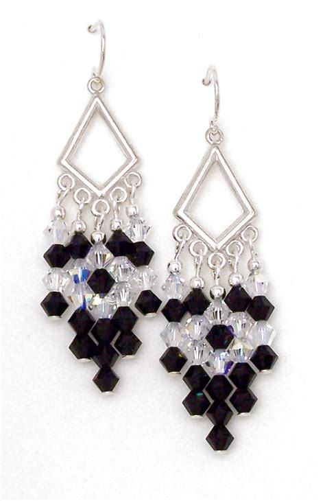 black chandelier earrings with crystals black chandelier earrings